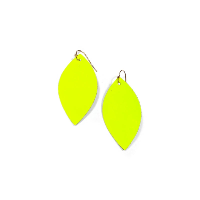 Neon Yellow - Slim Leaf Drops