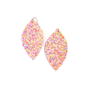 Neon Sunset Glitter - Slim Leaf Drops