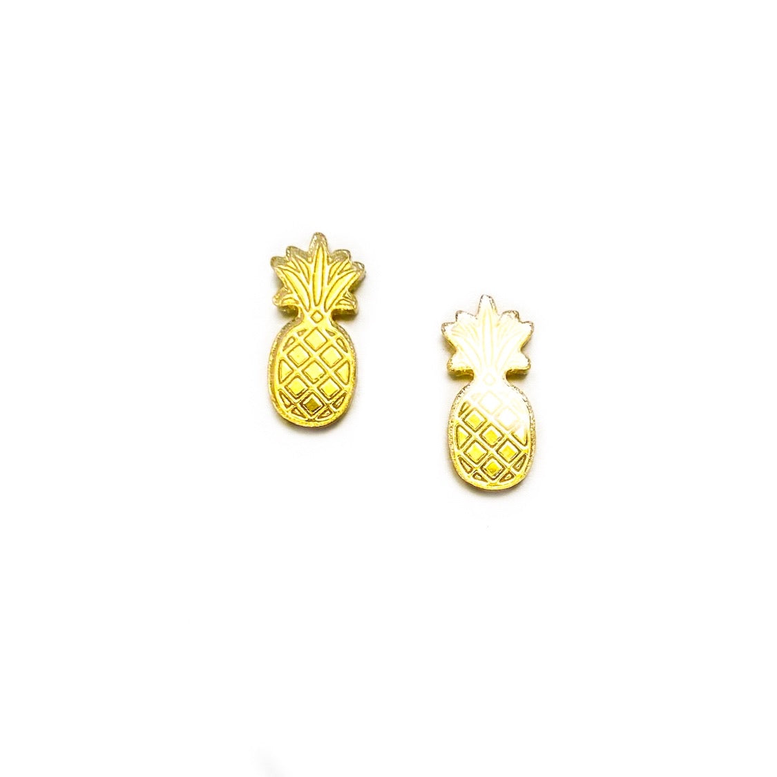 Pineapples - 13mm Shaped Studs