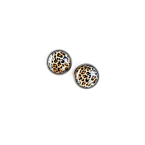 Cheetah in Brass - 12mm Dome Studs