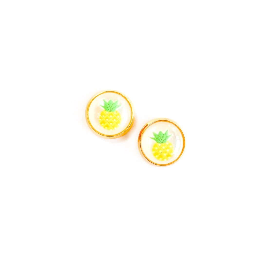 Pineapple in Gold - 12mm Dome Studs