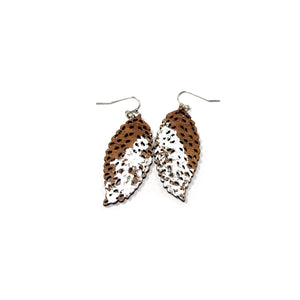 Silver Gilded Speckled Leaf Dangle Timbers