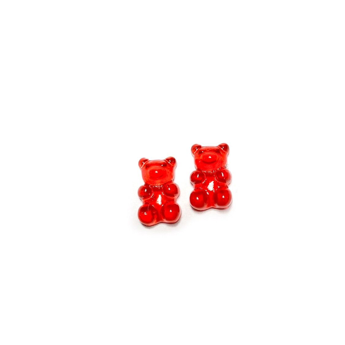 Red Gummy Bears - 15mm Shaped Studs