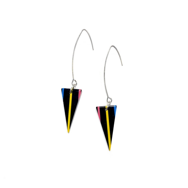 90s Stripe on Silver - Sharp Tip Dagger Drops