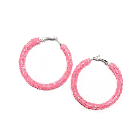 Rock Candy Glitter Hoops