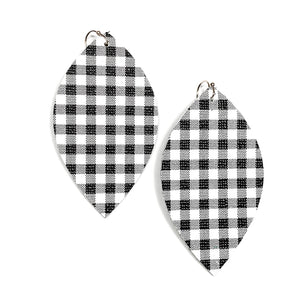 Black Buffalo Check - Slim Leaf Drops
