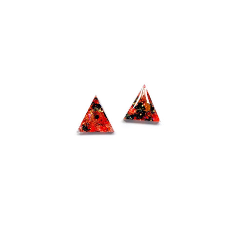 Spellbound Glitter Triangles - 15mm Shaped Studs