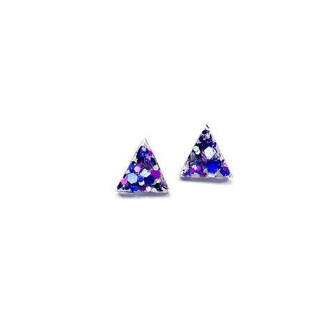 Mystic Glitter Triangles - 15mm Shaped Studs