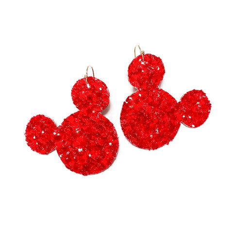 Red Glass Glitter - Mouse Ear Drops