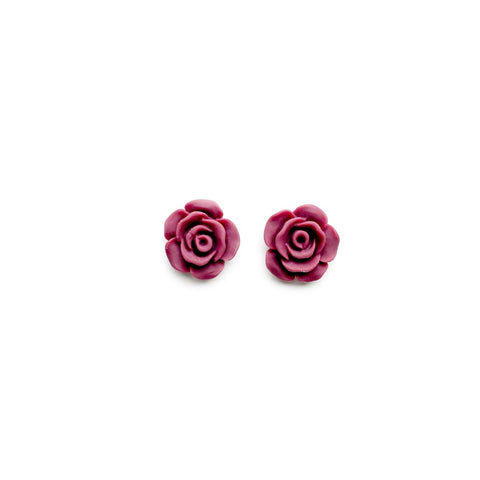Cabbage Rose - 13mm Shaped Studs