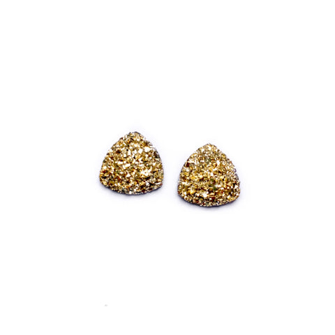 Gold - 16mm Faux Druzy Nugget Studs