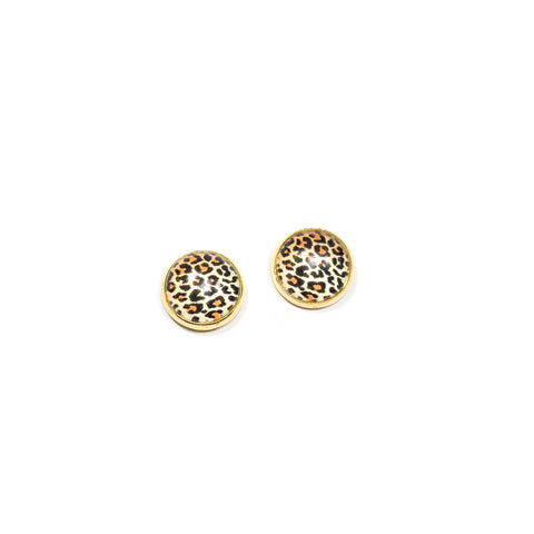 Cheetah in Gold - 12mm Dome Studs