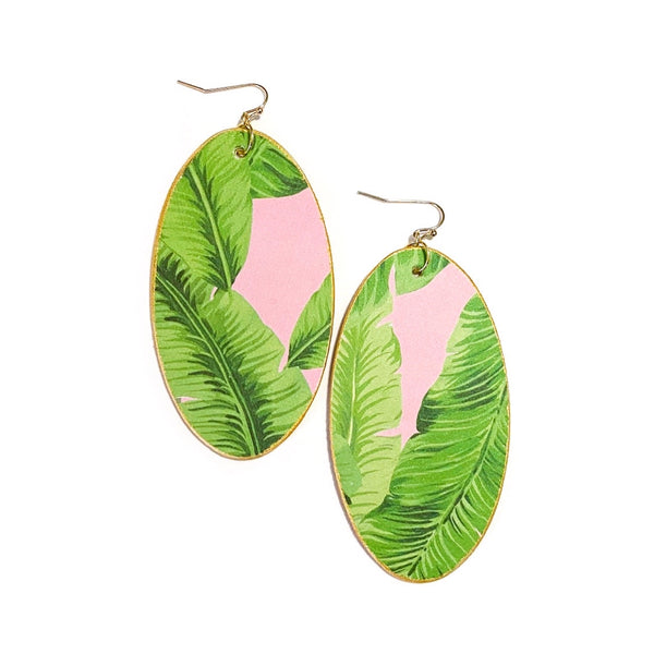 Pink Palm Leaves - YOU Choose Style & Size