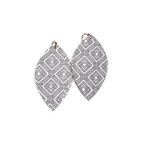 Ikat Diamonds - Slim Leaf Drops