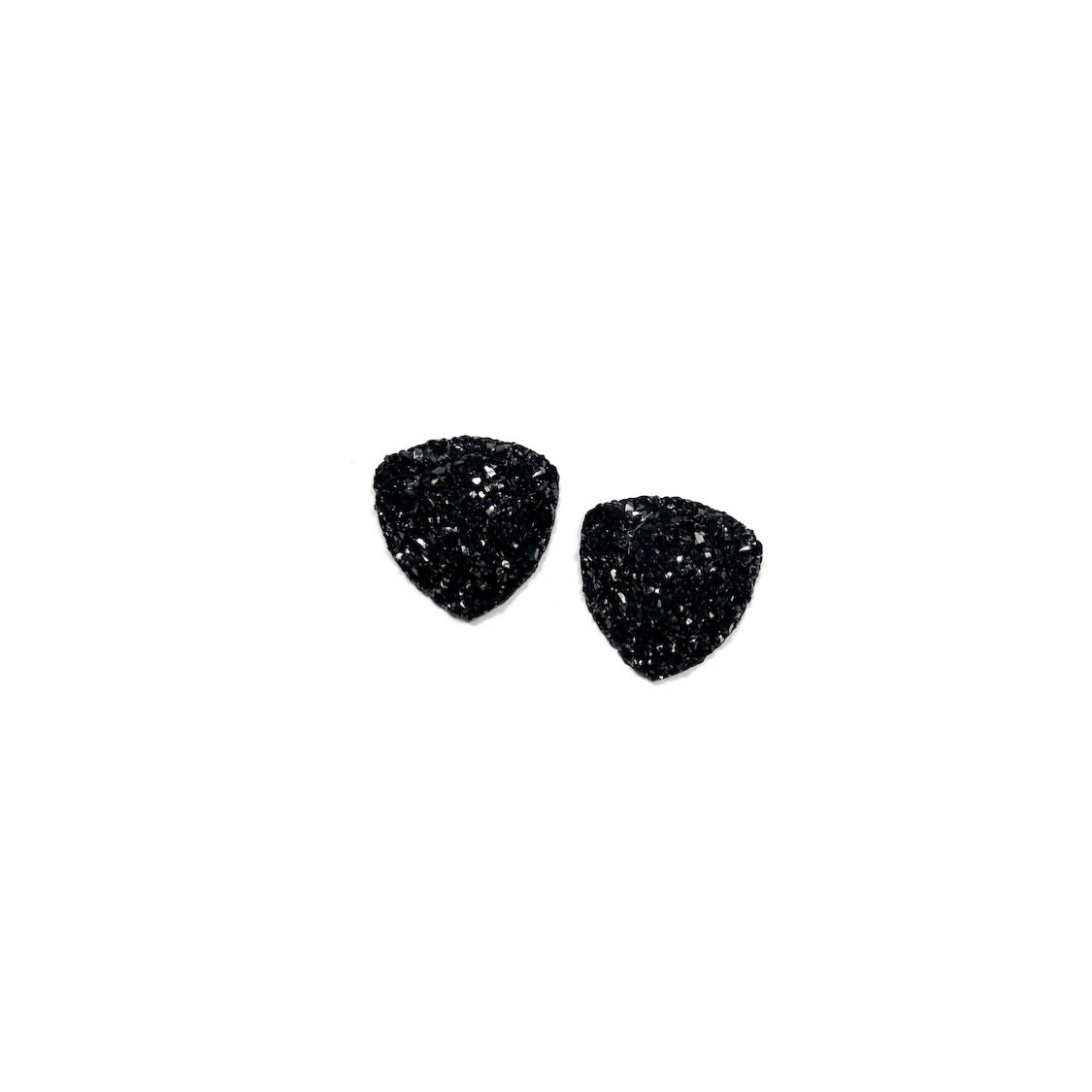Black - 16mm Faux Druzy Nugget Studs