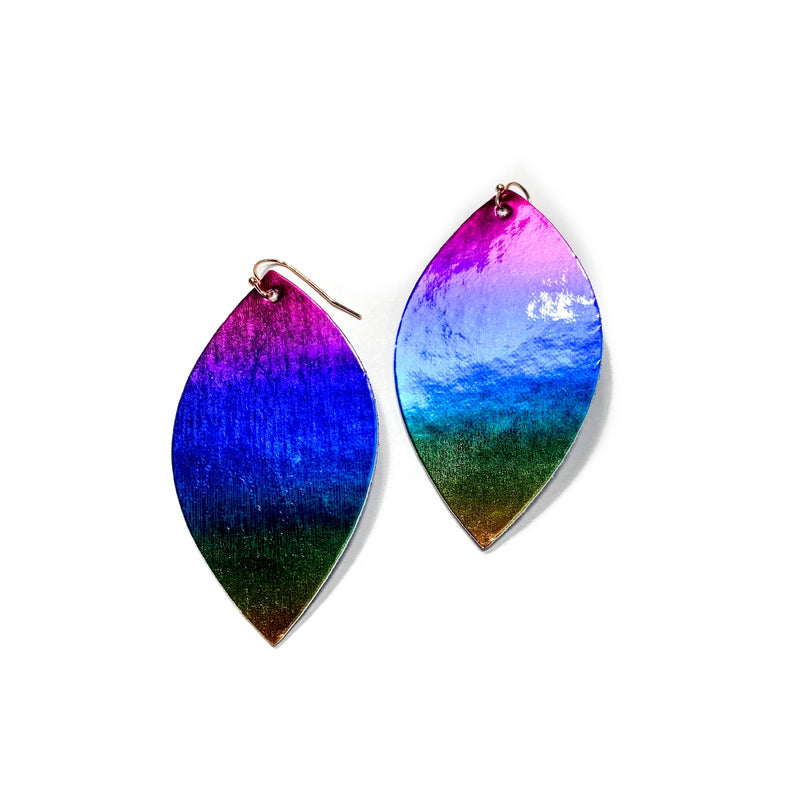 Ombré Metallic Rainbow - Slim Leaf Drops