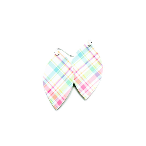 Easter Plaid - Slim Leaf Drops