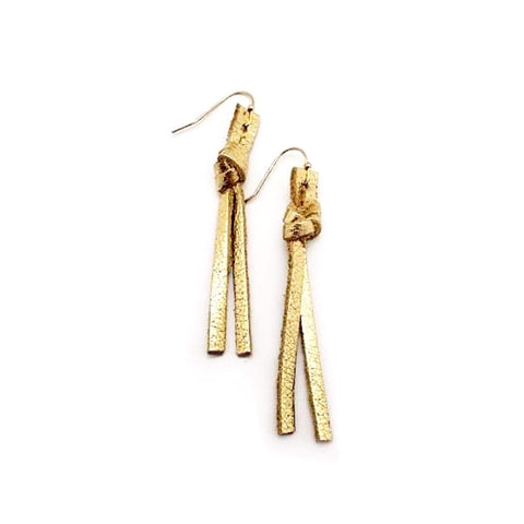 Gold Metallic Lengthy Why Knots