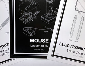 Black Patent Prints - Retro Patents