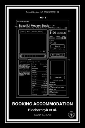Airbnb Patent Print Black - Retro Patents