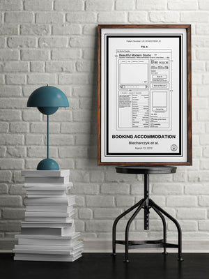 Airbnb Patent Print Stool - Retro Patents