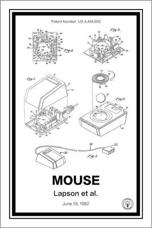 Apple Mouse Patent Print - Retro Patents