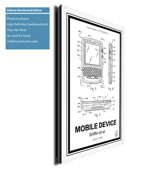 Blackberry Phone® Patent Print - Retro Patents