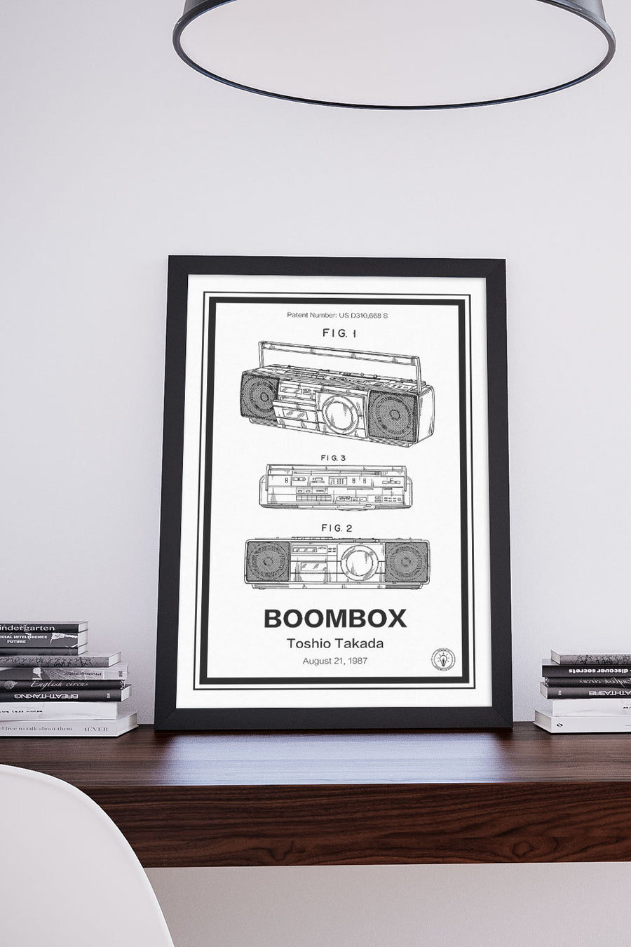 Boombox Patent Print - Retro Patents