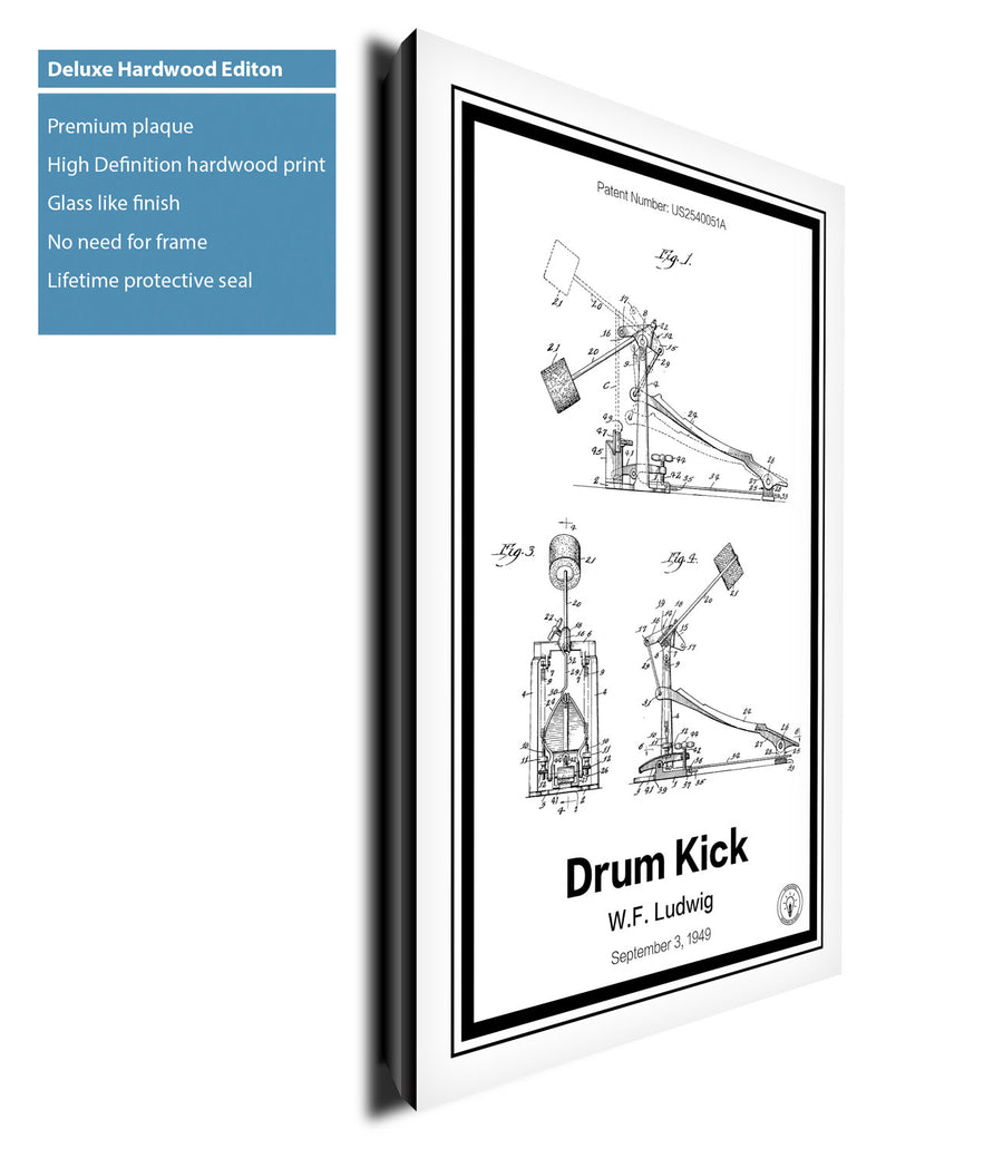Drum Kick Patent Print - Retro Patents