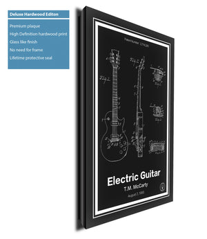 Electric Guitar Patent Print - Retro Patents