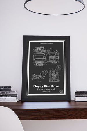 Floppy Disk Drive Patent Print - Retro Patents
