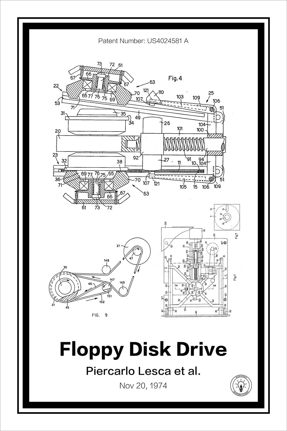 Floppy Disk Drive Diagram Wiring Library Diagramquot On The Left And Of Six Way 4 Pole Rotary Patent Print Retro Patents Internal Hard