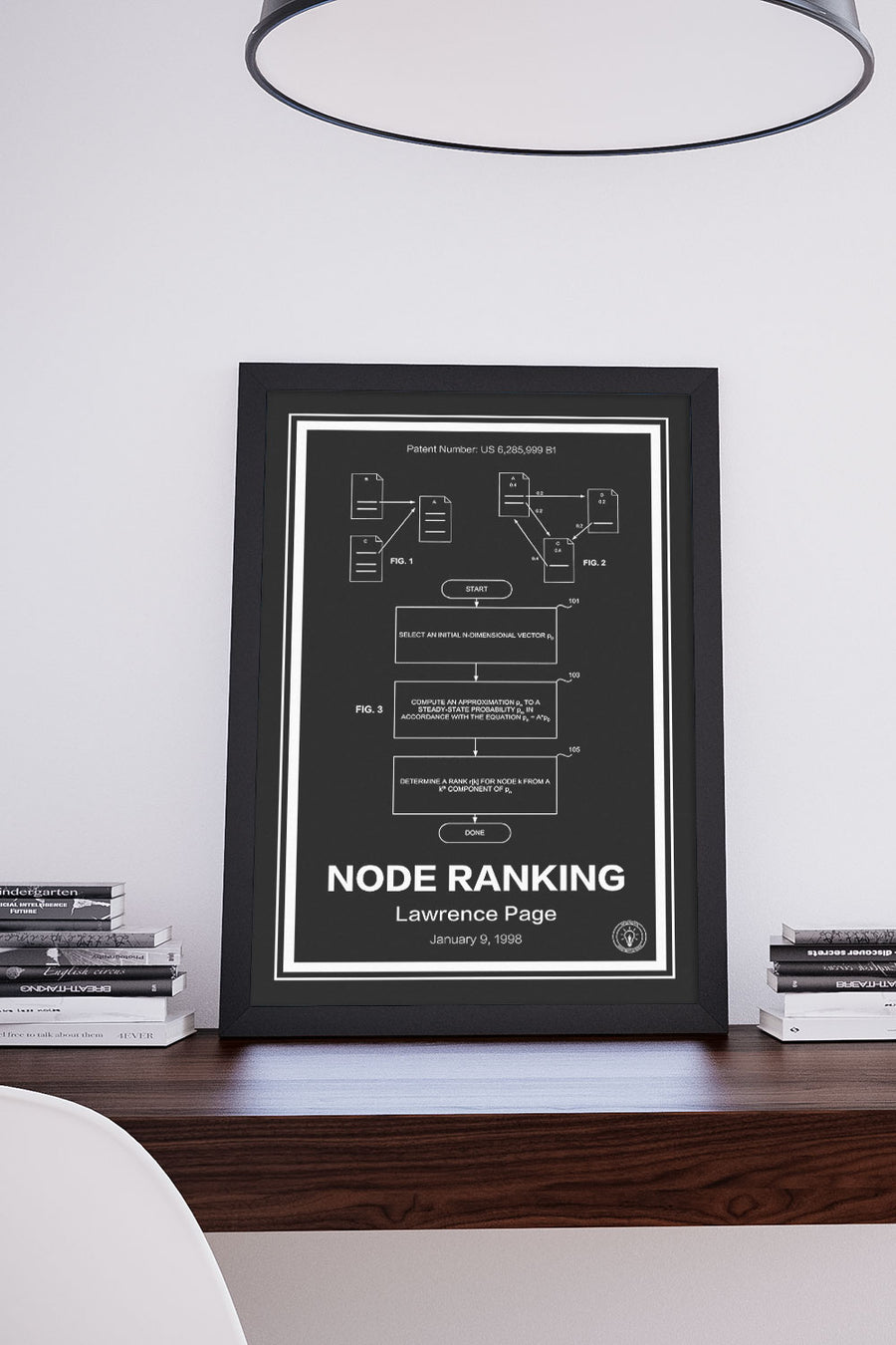 Google PageRank® Patent Print - Retro Patents