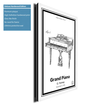 Grand Piano Patent Print - Retro Patents
