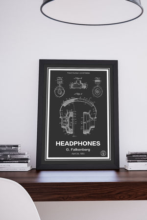 Headphones Patent Print - Retro Patents