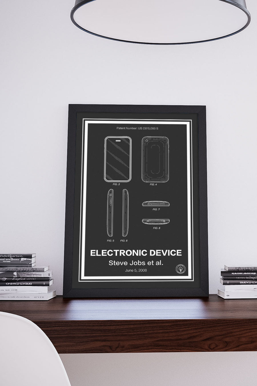 iPhone Patent Print Black - Retro Patents