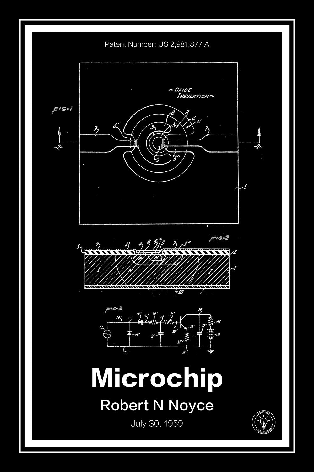 microchip patent print \u2013 retro patents1959 Practical Monolithic Integrated Circuit Concept Patented The #10
