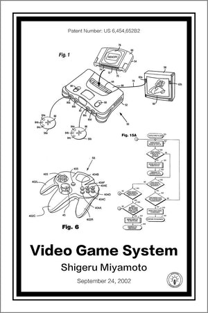 Nintendo 64® Patent Print - Retro Patents