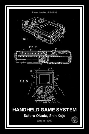 Nintendo Gameboy® Black - Retro Patents