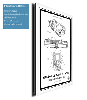Nintendo Gameboy® Hardwood - Retro Patents