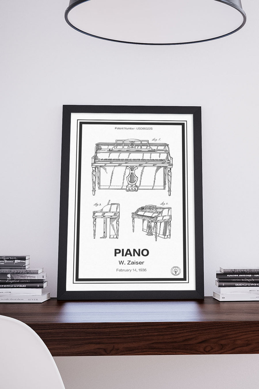 Piano Patent Print - Retro Patents