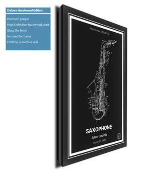 Saxophone Patent Print - Retro Patents