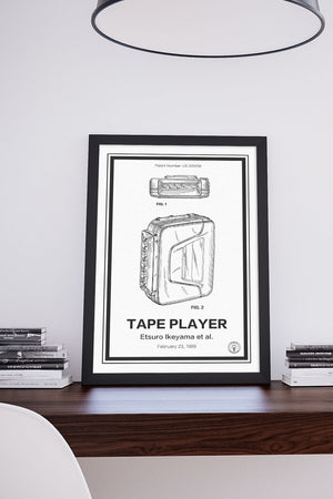 Sony Walkman Patent Print - Retro Patents