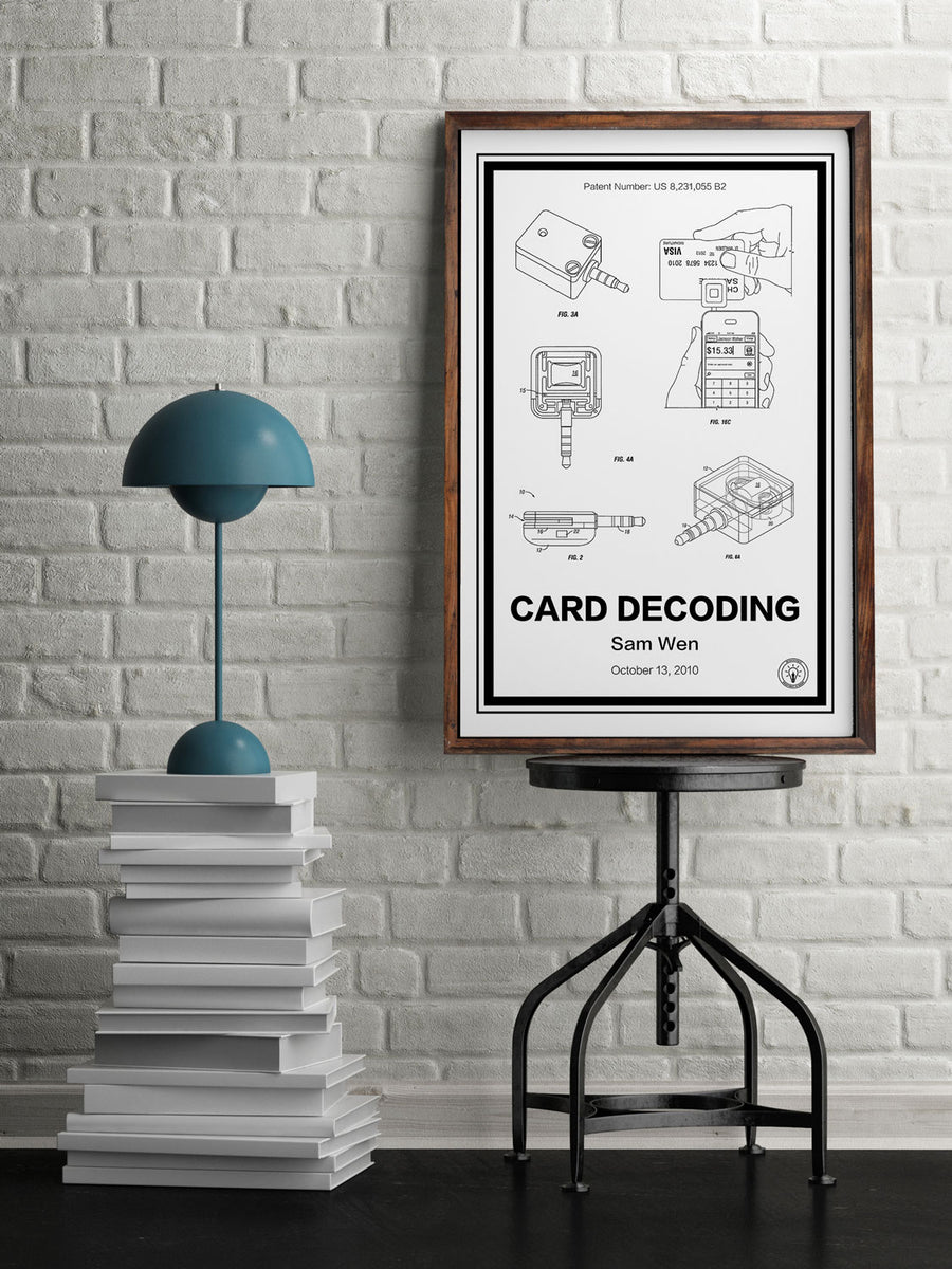 Square Card Reader® Patent Print - Retro Patents