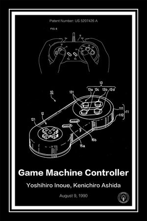 Super Nintendo Controller® Patent Print - Retro Patents