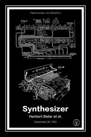 Music Synthesizer Patent Print - Retro Patents
