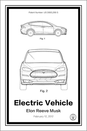 Tesla® Patent Print - Retro Patents