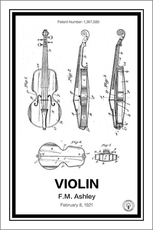 Violin Patent Print - Retro Patents