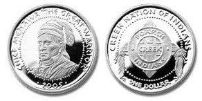 Poarch Creek Silver Coin