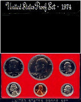 1974 US Mint 6 Coin Proof Set